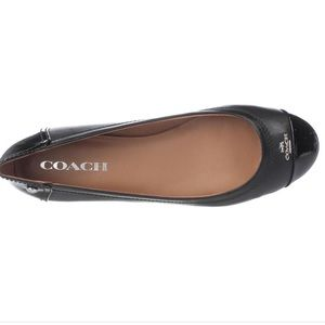 "New Coach""Chelsea"" Leather Ballet Flats"